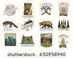 set of engraved vintage  hand... | Shutterstock .eps vector #650958940