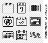 appointment icons set. set of 9 ... | Shutterstock .eps vector #650959918