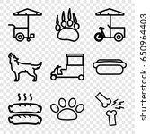dog icons set. set of 9 dog... | Shutterstock .eps vector #650964403
