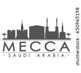 mecca skyline silhouette... | Shutterstock .eps vector #650965198