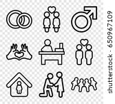 couple icons set. set of 9... | Shutterstock .eps vector #650967109