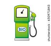 green bio fuel pump isolated. | Shutterstock .eps vector #650971843