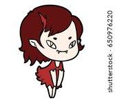 cartoon friendly vampire girl   Shutterstock .eps vector #650976220