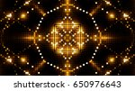 golden glittering lights | Shutterstock . vector #650976643