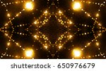 golden glittering lights | Shutterstock . vector #650976679