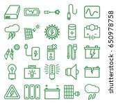 electricity icons set. set of... | Shutterstock .eps vector #650978758