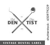 Dental Label Isolated On White...