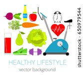 concept of a healthy lifestyle  ... | Shutterstock .eps vector #650979544
