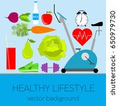 concept of a healthy lifestyle  ... | Shutterstock .eps vector #650979730