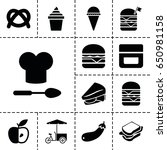 snack icon. set of 13 filled...   Shutterstock .eps vector #650981158