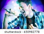 karaoke. | Shutterstock . vector #650982778