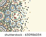 morocco disintegration template.... | Shutterstock .eps vector #650986054