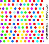 colored balls. toy. rainbow.... | Shutterstock .eps vector #650990620