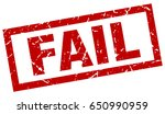 square grunge red fail stamp | Shutterstock .eps vector #650990959