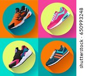 fitness sneakers shoes for... | Shutterstock .eps vector #650993248