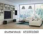 upmarket modern living room or... | Shutterstock . vector #651001060