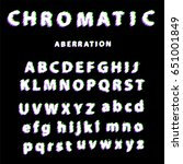 distorted font with chromatic... | Shutterstock .eps vector #651001849