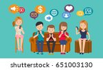 social media technology.... | Shutterstock .eps vector #651003130