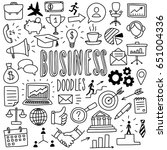 hand drawn business doodles | Shutterstock .eps vector #651004336