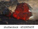 Lava Flow   Volcano Etna