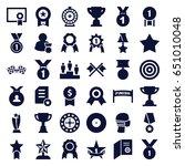 winner icons set. set of 36...   Shutterstock .eps vector #651010048