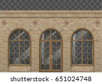 the classic facade is in a... | Shutterstock .eps vector #651024748