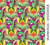 vector flower concept. seamless ...   Shutterstock .eps vector #651025318