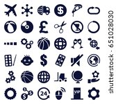 round icons set. set of 36... | Shutterstock .eps vector #651028030