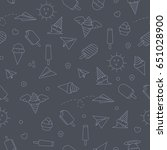 seamless doodle pattern. vector ... | Shutterstock .eps vector #651028900