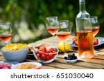 holiday summer brunch party...   Shutterstock . vector #651030040