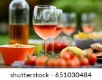 holiday summer brunch party... | Shutterstock . vector #651030484