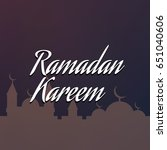 ramadan kareem illustration.... | Shutterstock .eps vector #651040606