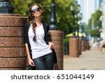 outdoor lifestyle portrait of... | Shutterstock . vector #651044149