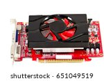 red graphic card  | Shutterstock . vector #651049519