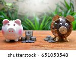 Small photo of compare coins saving concept business and finance