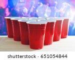 beer pong tournament layout.... | Shutterstock . vector #651054844