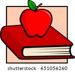 book and apple | Shutterstock .eps vector #651056260