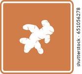 ginger root sign | Shutterstock .eps vector #651056278