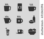 coffee icons set. set of 9... | Shutterstock .eps vector #651061096