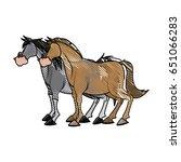 horse animal farm domestic... | Shutterstock .eps vector #651066283