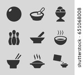 bowl icons set. set of 9 bowl... | Shutterstock .eps vector #651068008