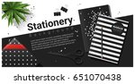creative scene with black and... | Shutterstock .eps vector #651070438
