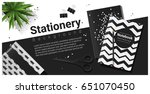 creative scene with black and... | Shutterstock .eps vector #651070450