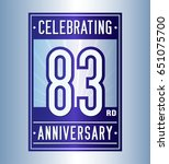 83 years anniversary design... | Shutterstock .eps vector #651075700