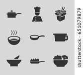 soup icons set. set of 9 soup... | Shutterstock .eps vector #651079879