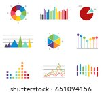 set of data finance diagram... | Shutterstock .eps vector #651094156