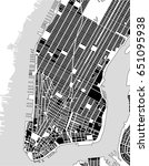 vector map of the new york city ... | Shutterstock .eps vector #651095938