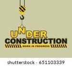 under construction hanging hook ... | Shutterstock .eps vector #651103339