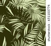 palm pattern. background | Shutterstock .eps vector #651103774