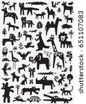 animals doodles | Shutterstock .eps vector #651107083